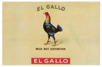 El Gallo Inner Box Art