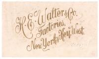 H.E. Walter NYKW Inner Box Label