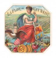 La Flor de Key West Outer Box Art (Schmidt & Co.)