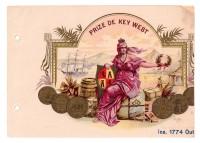 Prize de Key West Sales Book Page